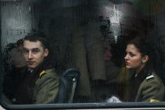Les militaires de jour national défilent Photo libre de droits
