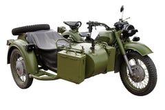 les militaires de vélo circulent en voiture Photographie stock
