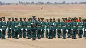 Les militaires du Lesotho défilent Photo libre de droits