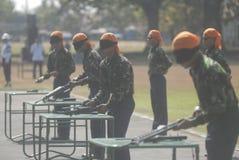 LES MILITAIRES INDONÉSIENS REFORMENT Image stock