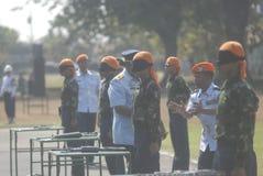 LES MILITAIRES INDONÉSIENS REFORMENT Images stock