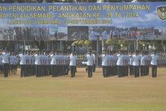 LES MILITAIRES INDONÉSIENS REFORMENT Photos libres de droits