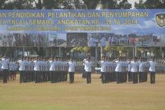 LES MILITAIRES INDONÉSIENS REFORMENT Photo libre de droits