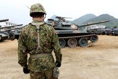 Les militaires japonais échouent Photos stock
