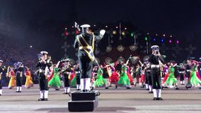 Les militaires royaux d'Edimbourg tatouent banque de vidéos