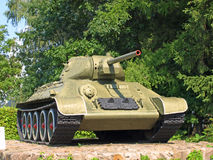 Les militaires soviétiques échouent T-34 Photographie stock libre de droits