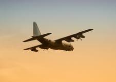 Les militaires transportent des aéronefs Image stock
