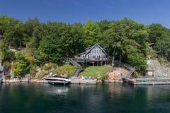 Les mille Canadas de croisière d'île Photo libre de droits