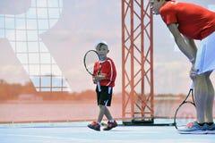 Les Milos de Raonic METTENT EN BOÎTE à l'US Open (3) Images stock