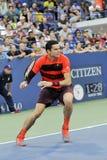 Les Milos de Raonic METTENT EN BOÎTE à l'US Open (6) Photo libre de droits