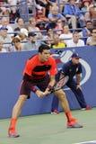 Les Milos de Raonic METTENT EN BOÎTE à l'US Open (8) Images stock