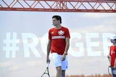 Les Milos de Raonic METTENT EN BOÎTE à l'US Open (2) Image libre de droits