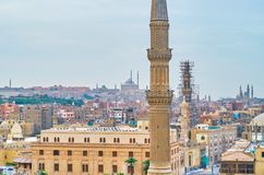 Les minarets du Caire, Egypte image stock
