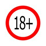 Les mineurs ronds ont interdit l'icône 18 illustration libre de droits