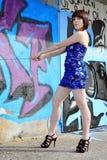 Les minidress bleus Photographie stock
