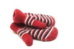 Les mitaines des enfants chauds d'une laine Photographie stock libre de droits