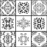 Les modèles abstraits de damassé ont placé de neuf sans couture dans le rétro style pour l'usage de conception Image libre de droits