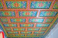 Les modèles floraux sur le plafond Image libre de droits