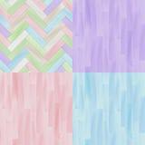 Les modèles sans couture de parquet en bois réaliste de plancher colorés par pastel placent, dirigent Image libre de droits