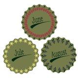 Les mois de l'été Photos stock