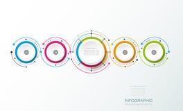 Les molécules abstraites de vecteur avec le papier 3D marquent, ont intégré des cercles Photographie stock