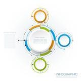Les molécules abstraites de vecteur avec le papier 3D marquent, ont intégré des cercles Images libres de droits