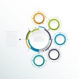 Les molécules abstraites de vecteur avec le papier 3D marquent, ont intégré des cercles Image libre de droits