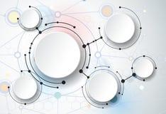 Les molécules abstraites et les 3d empaquettent, ont intégré des cercles Photo libre de droits