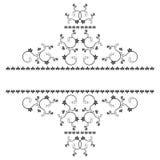 La vue avec des monogrammes pour la conception et décorent. Image libre de droits