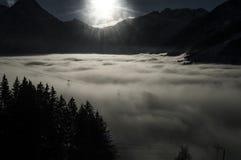 Les 2 montañas fotografía de archivo libre de regalías