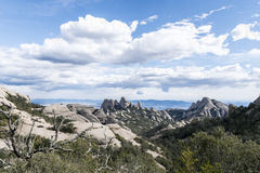 Les montagnes à Montseny Images stock