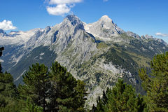 Les montagnes Alpspitze et Hochblassen Image libre de droits