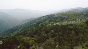 Les montagnes avec Pale Mist photographie stock