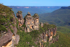Les montagnes bleues en Australie Photo stock