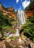 Les montagnes bleues en Australie Photographie stock libre de droits