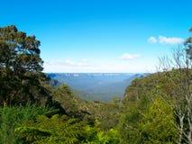Les montagnes bleues en Australie Photo libre de droits