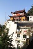 Les montagnes célèbres du bouddhisme chinois jiuhuashan Photos libres de droits