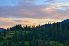 Les montagnes carpathiennes Photographie stock libre de droits