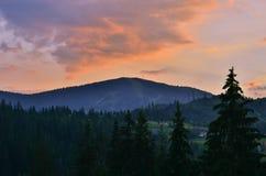 Les montagnes carpathiennes 7 Photo libre de droits