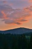 Les montagnes carpathiennes 16 Image stock