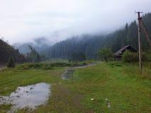 Les montagnes carpathiennes Images libres de droits