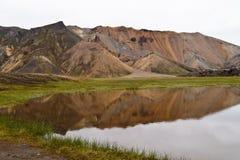 Les montagnes colorées de Landmannalaugar images stock