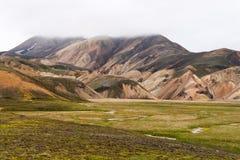 Les montagnes colorées de Landmannalaugar photo libre de droits