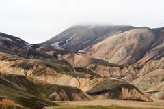 Les montagnes colorées de Landmannalaugar image libre de droits