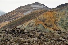 Les montagnes colorées de Landmannalaugar photos stock