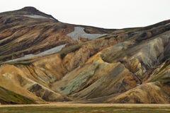 Les montagnes colorées de Landmannalaugar photographie stock libre de droits
