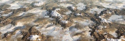 Les montagnes color?es de lac et de montagnes am?nagent en parc, vue a?rienne panoramique de monde miniature illustration de vecteur