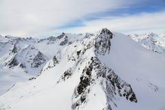 Les montagnes d'Alpes Images stock