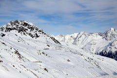 Les montagnes d'Alpes Image stock