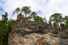 Les montagnes d'Ural Image libre de droits